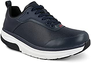 Gravity Defyer Men's GDEFY Paguxon Athletic Shoes 13 M US - Hybrid VersoShock Proven Performance Shock-Absorbing Leather Pain Relief Shoes Blue