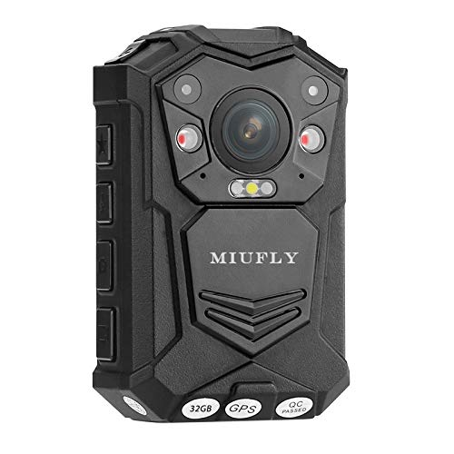 MIUFLY 1296P HD Waterproof Police Body Camera