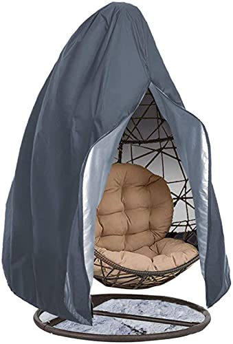 Copertura per sedia a uovo da appendere per esterni, in tessuto Oxford 210D, impermeabile, anti-polvere, per sedia a dondolo in vimini da esterni, copertura per mobili da giardino con cerniera