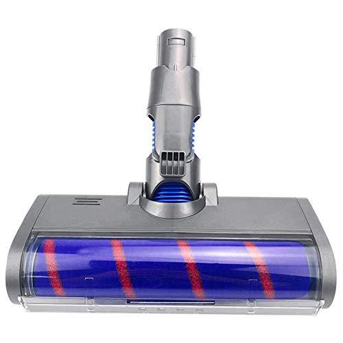 SODIAL Cepillo de Rodillo de Cabeza de Piso Esponjoso para V6 Tipo a/B Piezas de Aspiradoras Herramienta de Cepillo Giratorio con Luces LED