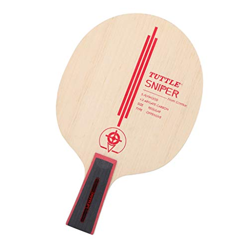 Fantastic Prices! Toygogo 1Pc Table Tennis Racket Wooden Baseboard with Thin Handle for Training – Wood, Long Handle
