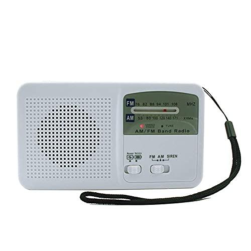 Energía Linterna recargable Antorcha solar Módulo inductor de manivela Radio Móvil Teléfono de emergencia Carga Linterna de emergencia Linterna de radio Camping al aire libre Antorcha (Color: White,