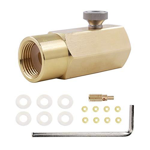ConPush CO2 Nachfülladapter CO2 Adapter Nachfüllanschluss Kit für den Soda-Tank für das W21.8-14-Ventil des CO2-Tanks