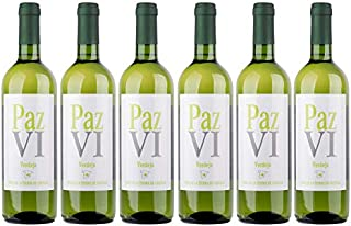 Paz VI Vino Blanco Verdejo - Botellas 6 x 750 ml - Total: