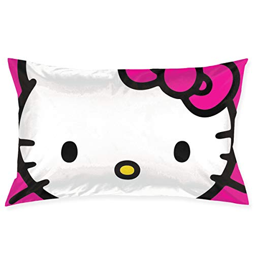 Meirdre - Federa per cuscino, motivo: Hello Kitty, 50,8 x 76,2 cm, colore: Rosa