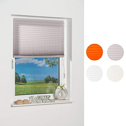K-home 186682Tenda Plissettata Adesiva, Modello Como, Grigio, schermatura della Luce, Tessuto, Grigio, 40 x 130 cm
