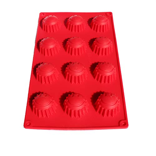 X-Haibei Round Capsule Sun Happy Face Silicone Chocolate Jello Guest Soap Mold Dia. 1.5inch