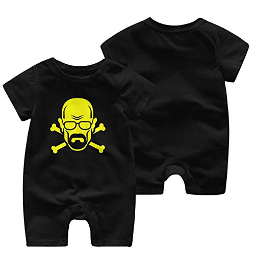 WoodWorths Heisenberg Newborn Girl Boys Kids Baby Romper Short Sleeve Infant Toddler Jumpsuit(6 Months,Black)