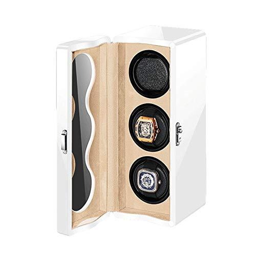 DFBGL Remontoir de montre automatique Boîte 3 lumière LED Moteur silencieux contrôlé indépendamment 4 Modes de Rotation Adaptateur Remontoir de montre alimenté par batterie