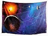 Tapiz Tradicional de Jaipur Planet Tapiz de montañas Impresión 3D Galaxy Tapices