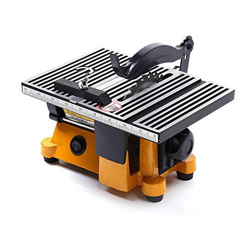 ミニテーブルソー 丸鋸盤 切断機 15mm切断 卓上丸鋸盤 小型マルノコ 金属/木材/基板/アクリル 鋸刃/電源/ドリルチャック 家庭用 DIY 110V