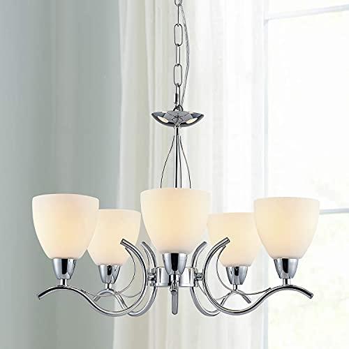 Saint Mossi 5 lampa Agriturismo lampadario in agriturismo Casa di campagna, lampadario Rustico per camera da letto, sala da pranzo, soggiorno, 80CM x 48CM, regolazione della catena