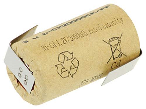 XCell SUB-C Akku Zelle - 2000mAh / 1,2V / NICD mit Z-Lötfahne - Hochleistungs- Markenzelle in Industriequalität