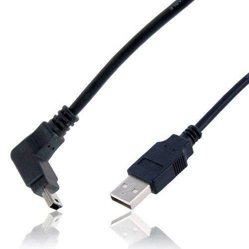Wicked Chili MiniUSB Kabel kompatibel mit Garmin nüvi 1240, 1350T, 1390T(pro), 350, 360, 610T, 650, 660TFM, nüvi 670TFM | Hi-Speed Datenkabel abgewinkelt für Garmin Navigationssystem (1,8m) schwarz