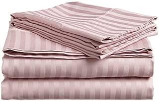 BELLA KLINE DESIGN Deluxe 4pc Striped King Bed Sheets Set, Lavender