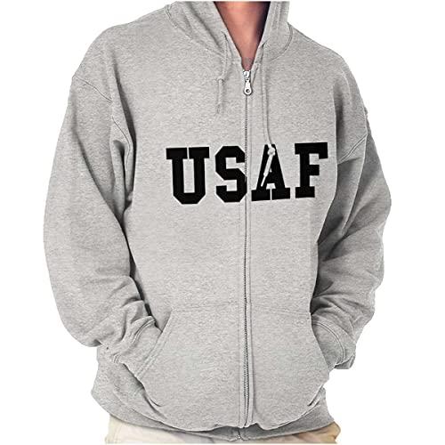 USAF Estados Unidos Militar Zip Up Sudadera con capucha para hombre y mujer