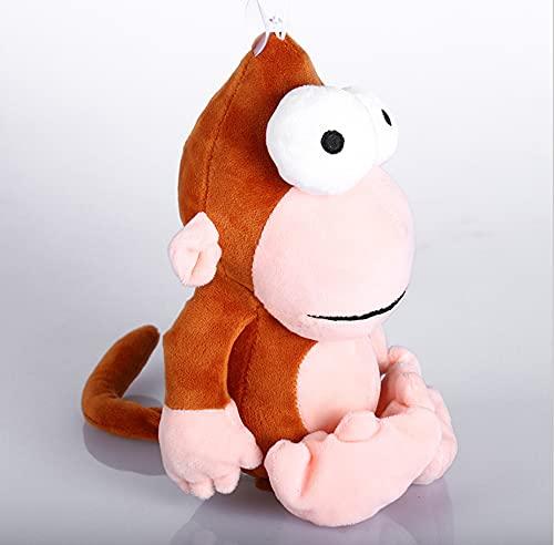 WPQL Lindos Juguetes de Peluche de Mono, muñecos de Peluche Suaves de Animales de Ojos Grandes, para niños, cumpleaños, Navidad, Regalos para el día de los niños, 28 cm