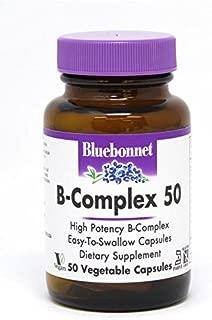 Bluebonnet B-Complex 50 Vegetable Capsules, 50 Count