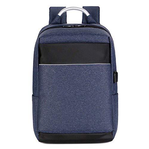 Rucksack Multifunktionscomputertasche, wasserabweisend, Business, Freizeit, eigenständige USB-Schnittstelle, Schultertasche (Farbe : Blau)