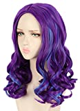 Yuehong Long Curly Purple Wig Party Wigs For Women Cosplay Costume Halloween Hair Wigs (Adult)