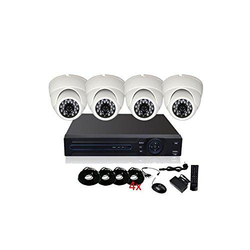 'Kit Videosorveglianza 4Telecamere HD 700TVL CCD–1000Gb, 4cavi di 40m Alimentazione e Video, schermo 22, garanzia 2anni
