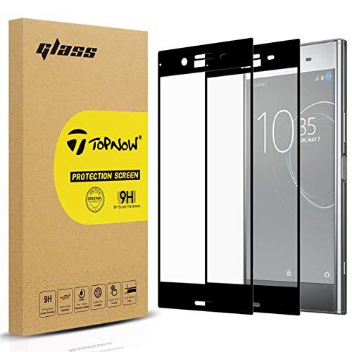 Topnow [2 Packs] Sony Xperia XZ Premium Schutzfolie,Ultra-klar Displayschutzfolie,9H Härte Gehärtetes panzerglas,Keine Blasen Screen Protector for Sony Xperia XZ Premium - Schwarz Black