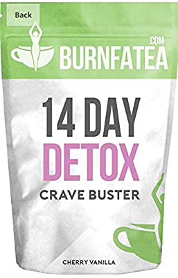 Burnfatea 14 Day Crave Buster Teatox (Appetite Suppressant, Fight Sugar Cravings, Get The Shape You Want, Herbal Fat Burner and Metabolism Booster, Detox, Weight Loss, Diet Tea, NO LAXATIVE EFFECT) by Burnfatea