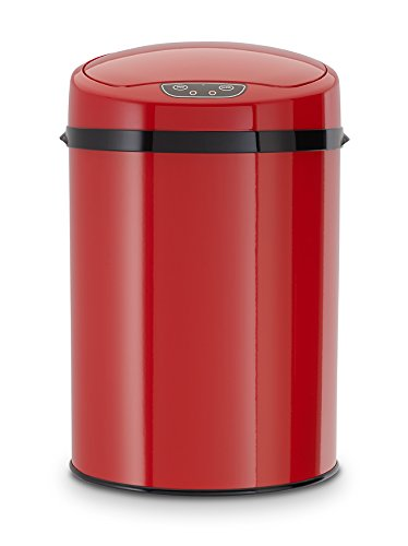 Echtwerk EW-BE-0259 Infrarot Badabfalleimer, 9 L, Rot