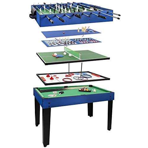 ColorBaby - Mesa multijuegos, Futbolín de madera, Mesa billar convertible, 12 juegos, Juguetes niños 6 años, Juegos de mesa, Futbolines para niños, Juegos de mesa adult