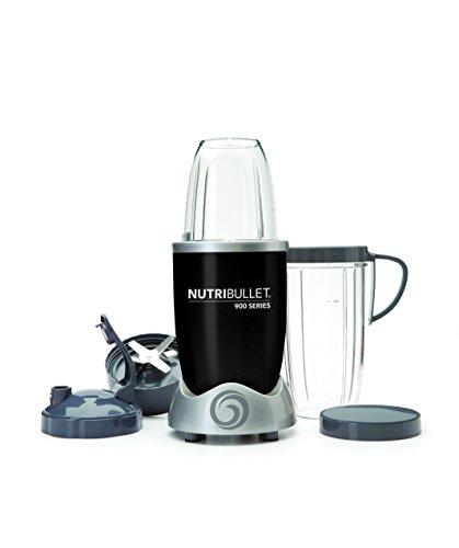 Nutribullet 900WEstrattore di Nutrientio, Estrattore di Succo per Preparazioni Culinarie Healthy, Preparatore Culinaria con Cup, Plastica, 29 x 17 x 34 cm, Nero