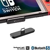 Nintendo Switch用 Bluetooth ワイヤレス オーディオアダプター【超薄型】【aptX LL対応 超低遅延】【最新Bluetooth5.0】 Nintendo Switch/Switch Lite/PS4/PC用 無線 ブルートゥース オーディオトランスミッター