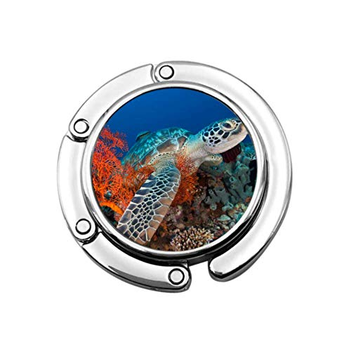 Tortuga Flexible en el océano Azul Colgador múltiple para Monedero Gancho para...