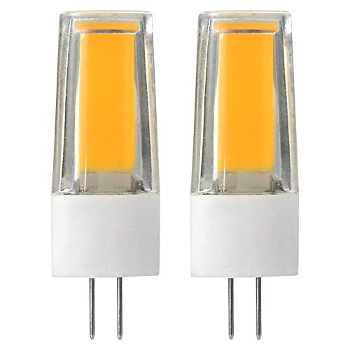 DASKOO 2-er Pack Flimmerfrei G4 5W = 40W LED Licht Keramik + PC Warmweiß 1X5W COB AC/DC 12V
