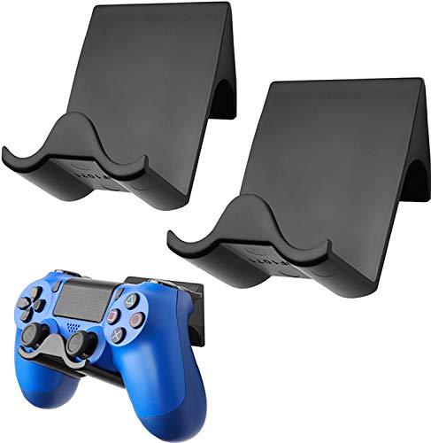 Soporte de pared para mando de PS4 PS5 (2 unidades), accesorio para mando de juegos Sony PS4 (negro)
