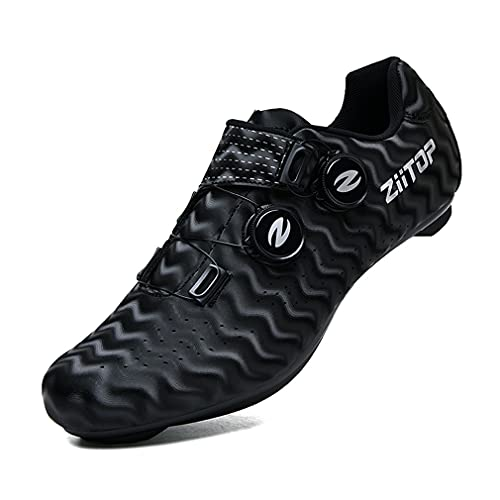 Mens Road Bike Cycling Shoes Womens Peloton Bike Shoes Unisex Compatible SPD Riding Shoes Delta Cleats Mountaining Cycling Shoes Indoor Outdoor