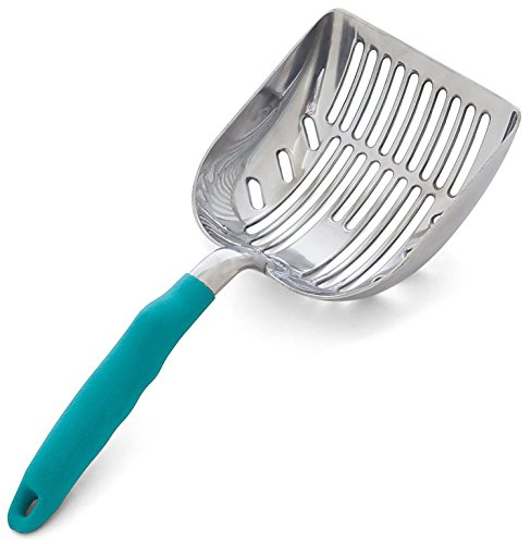 DuraScoop Jumbo Cat Litter Scoop, All Metal End-to-End with Solid Core, Sifter...