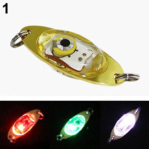 KaariFirefly LED Deep Drop Unterwasser-Augenform Angeln Tintenfisch Fischköder Licht Blinklicht Lampe, merhfarbig