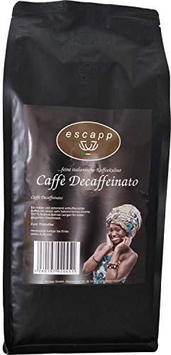 Kaffee escapp Caffè Decaffeinato, entkoffeinierter Kaffee, 100% Arabica, 1000 Gramm, gemahlene Bohnen