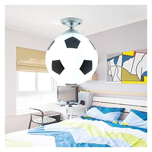 yywl Lámpara de Techo Balón de fútbol Techo Luz de fútbol LED Lámpara de Techo Bar para niños Habitación para niños Iluminación de Dormitorio para niños Lights Fijo Decoración del hogar