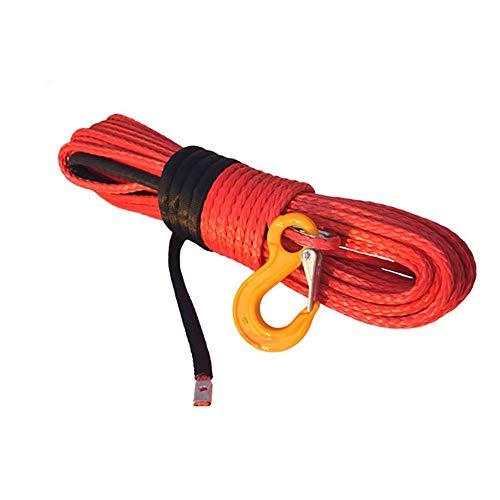 lxxiulirzeu Accesorios cabestrante 10mm * 30m Torno Naranja sintética Cuerda, 3/8 x 100...