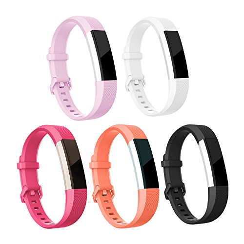 H&H2U relacement Bands Compatible for Fitbit Alta and Alta HR,Classic Soft Wristbands with Secure Buckle Compatible for Fitbit Alta HR/Fitbit Alta