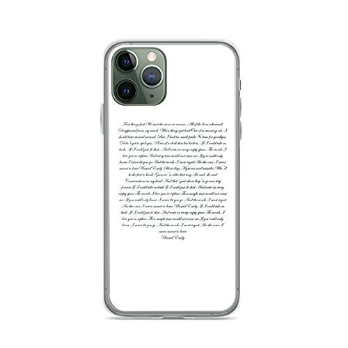 Fundas para teléfono Pure Clear compatibles con iPhone Samsung Xiaomi Redmi Note 10 Pro/Note 9/8/9A/Poco M3 Pro/Poco X3 Pro Funda para Unsaid Emily Lyrics Funda Protectora de Silicona TPU