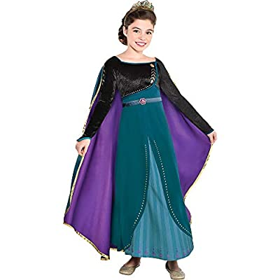 Party City Disney Frozen 2 Epilogue Anna Halloween Costume for Kids, Small, Includes Dress, Leggings, For Pretend Play