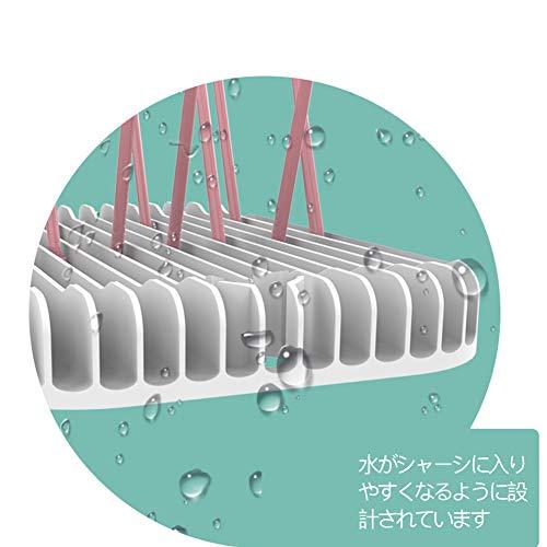 哺乳瓶ラック 折りたたみ式 哺乳びん ほこり防止 水切り抗菌 抗臭 乾燥ラック ベビー用品 取り外し可能折りたたみ式 乾燥トレイ 出産祝いプレゼント (ピンク)