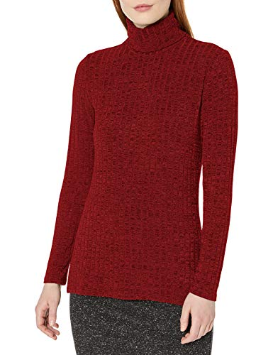 Tribal Damen L/s Turtle Neck Hemd, Rot - Regal Red, X-Groß