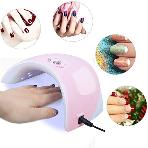 Multifunctionele LED intelligente inductie nagel lamp behandelmachine droger 36W nagellak droger lamp gel-Roze licht gevoel