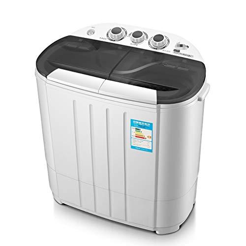 YXWxyj Washing Machines Twin Tub Mini Portable Washing Machine (3.8KG Washing + 3.0KG Drying) - ABS Plastic - UV Blue Light Antibacterial - For Camping Dorms Apartments Washer (Color : C, Size : UV)