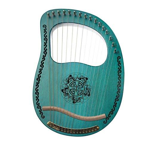 Harfe Kleiner Vertikaler Akkord Der Saiten 16 16 Tragbare Kleines Musikinstrument Klavierklang 里尔琴里拉 (Farbe : Grün)