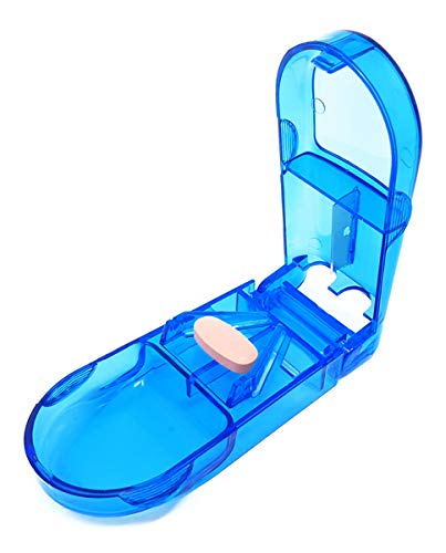 DOCTOR DEVICE Deluxe Pill Cutter Splitter with Built in Pill Case_Multo-color_1pc