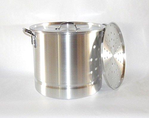 12 Qt Tamale Steamer Vaporera Stock Pot Premium Aluminum Tamalera 4 Gallons
